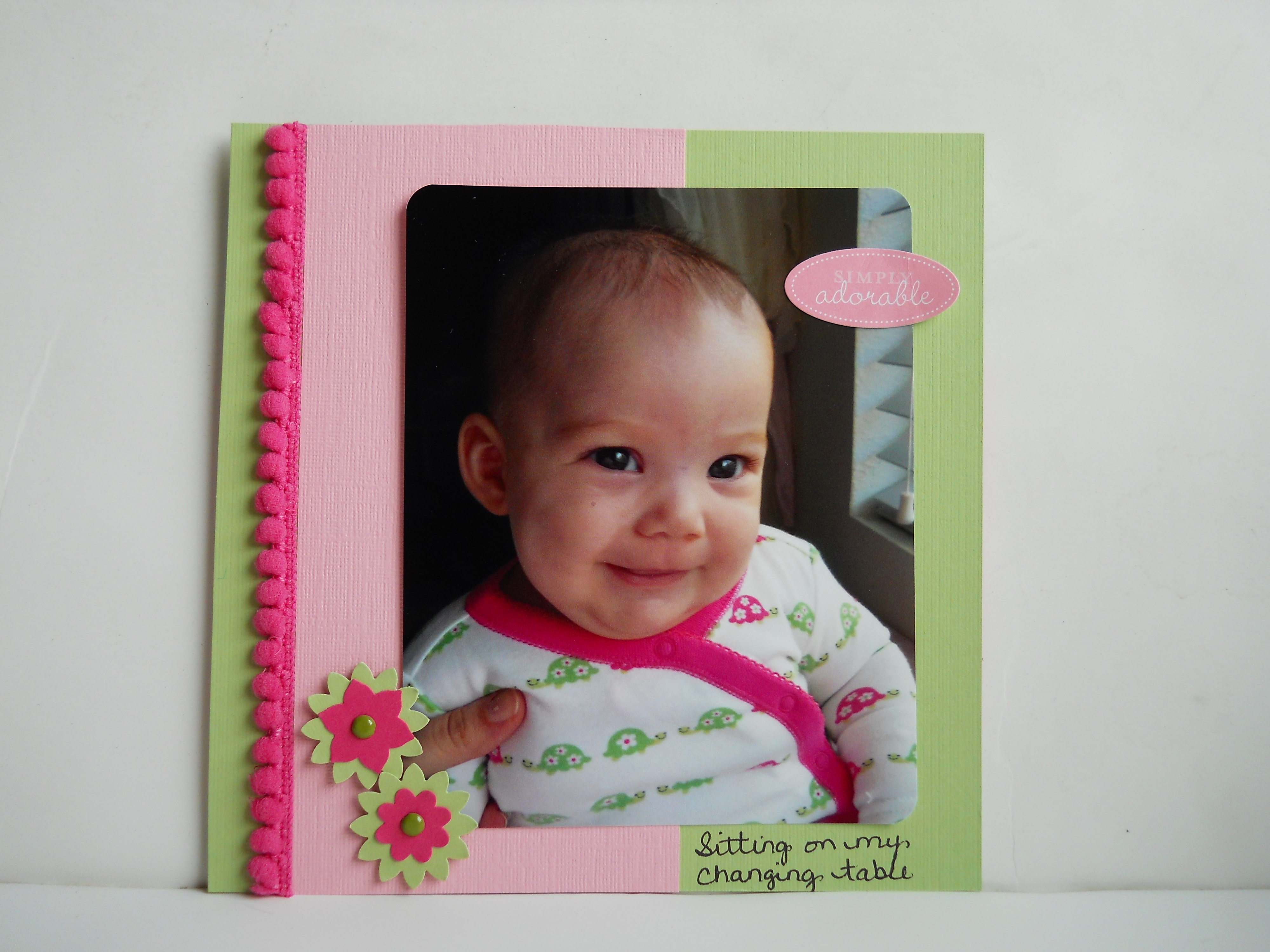 Quick easy scrapbook ideas - These Are Quick And Easy Scrapbook Pages And I M Having Fun With Them Olivia Just Turned 1 So These Infant Photos Are A Trip Down Memory Lane