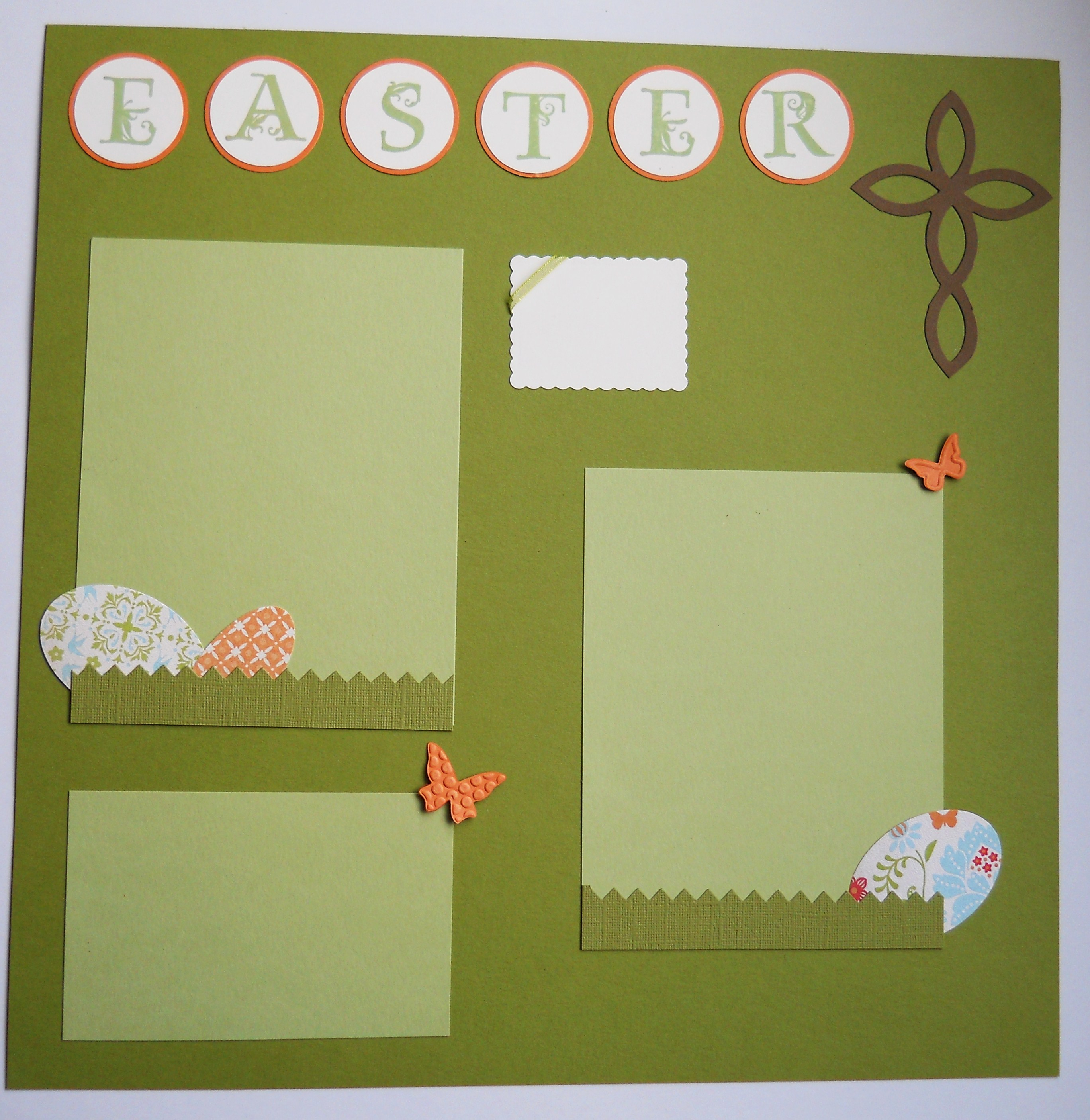 Scrapbook ideas easter - Easter Layout Easter Layout