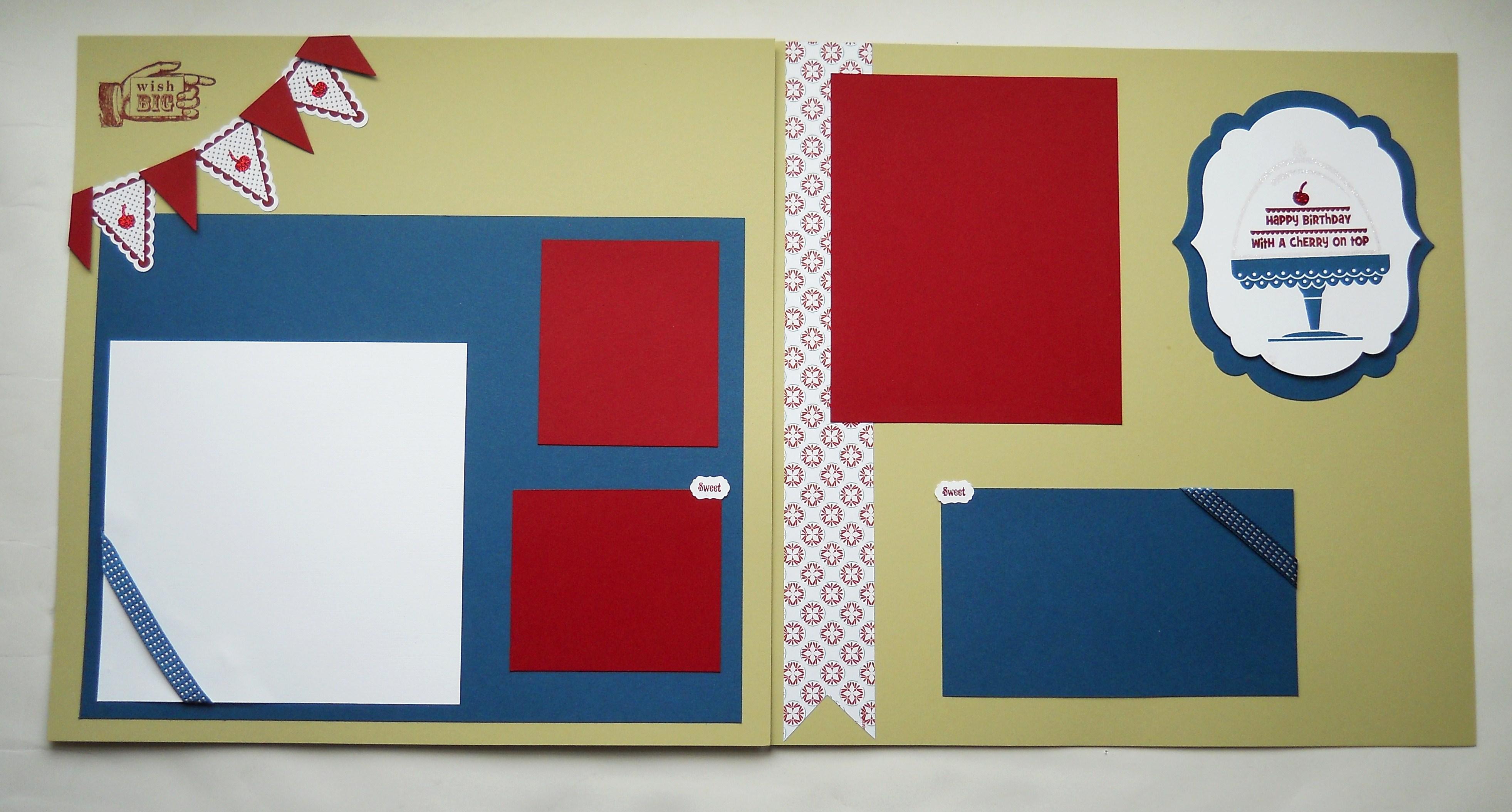 How to design scrapbook layouts - June 2012 Scrapclub Layout