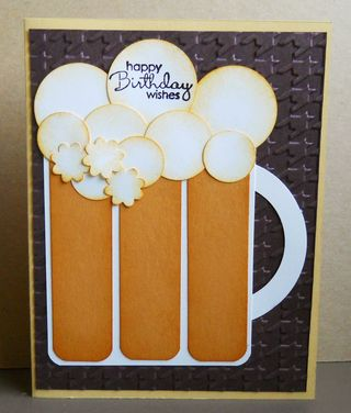 Beer Mug Birthday Card