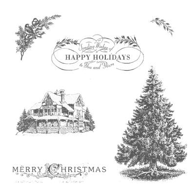 The Christmas Lodge.Christmas Lodge Favorite Christmas Stamp Set Sweet Stamper