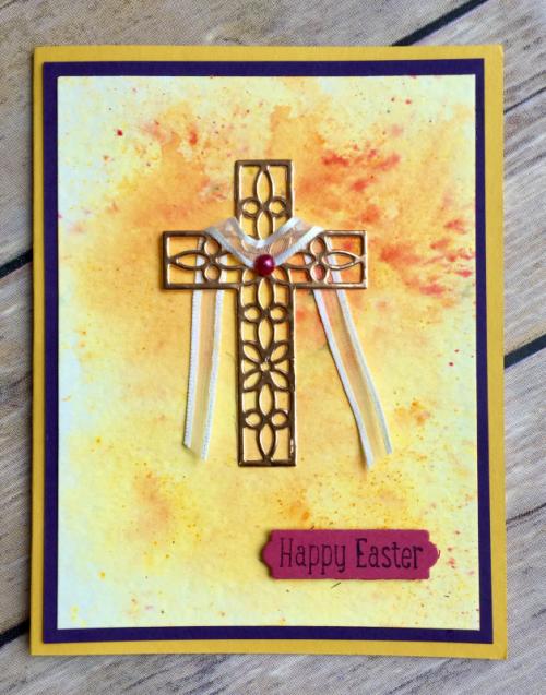 Easter Card-Brusho