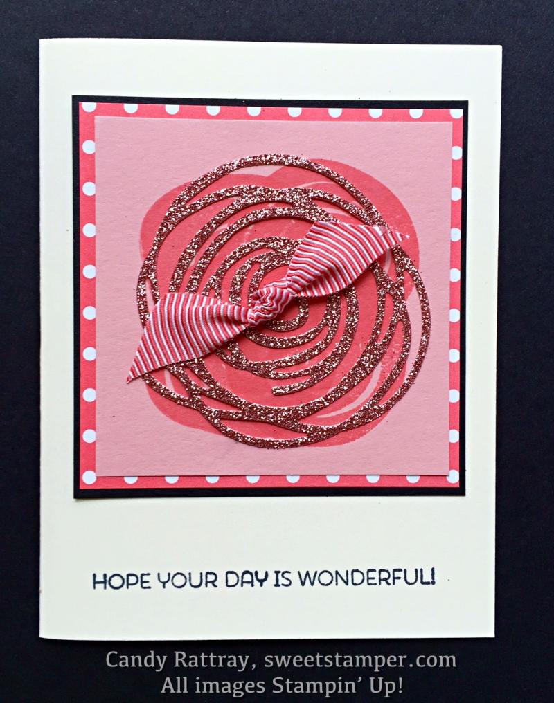 Sparkly Swirly Bird Card