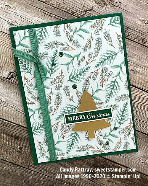 quickandeasychristmascardstampinup#simplestampingcandyrattray