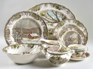 Brown willow ware